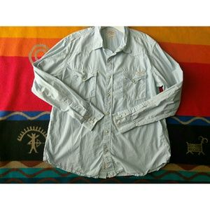 Lucky Brand Button Front Long Sleeve
